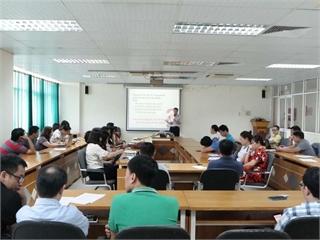 """Tập huấn chuyên môn """"dạy học nuôi dưỡng giá trị sống để thay đổi chất lượng Sinh viên tốt nghiệp"""""""