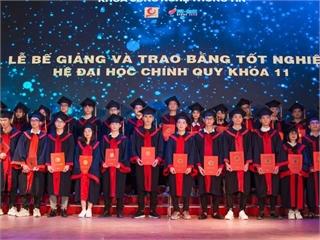 Lễ bế giảng và trao bằng tốt nghiệp cho sinh viên Hệ Đại học Khóa 11